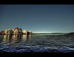 City in the Sea (Bs0u10e0) Tags: blue summer lake water june buildings nikon europe apartments sweden sigma flats sverige 1020mm 2009 hdr vsters vstmanland sigma1020mm apartmentblocks lakemlaren photomatix tonemapped tonemapping d80 nikond80 vstmanlandcounty vstersmunicipality
