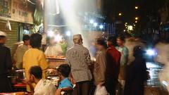 Ramzan: busy street at night