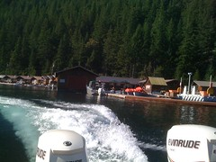 Ross Lake Resort water taxi