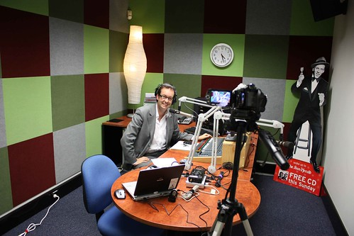Ben Starr in the Sydney Institute Internet Radio station studio