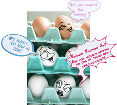 Eggbert is back! (RR) Tags: food white love face goofy ink fun with emotion egg humor cartoon heat eggs seduction oval huevo casanova ei hitting oeuf ovo yumurta eggbert omega3 healthier theeggventures ofeggbert playingwithfoodplaying brincandocomacomidablog