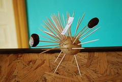 Autumn monster (Pawel Sawicki) Tags: autumn colour monster toy potato toothpick chestnut kindergarden jesie kasztan przedszkole zabawka potwr ziemniak wykaaczka pawesawicki