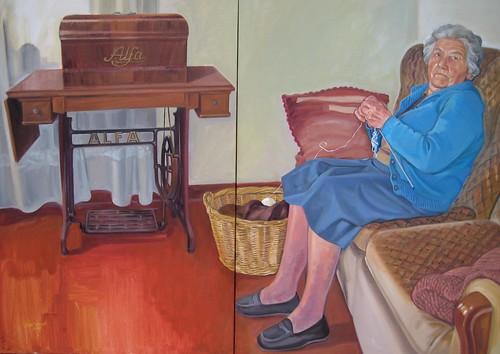 L'avia i la seva màquina de cosir