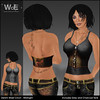 WoE UB-01a Denim Waist Cinch - Midnight