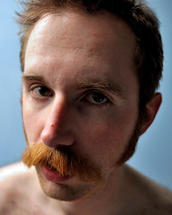 Moustache Montage II (p.baileyj) Tags: blue portrait self hair beard moustache freak shave cult oyster stache