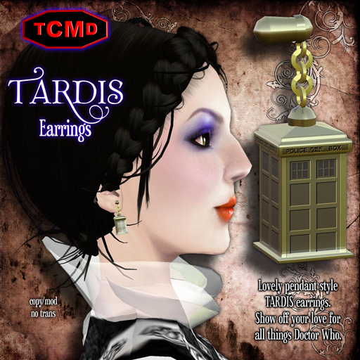 TCMD-TARDIS-Earrings-Gold
