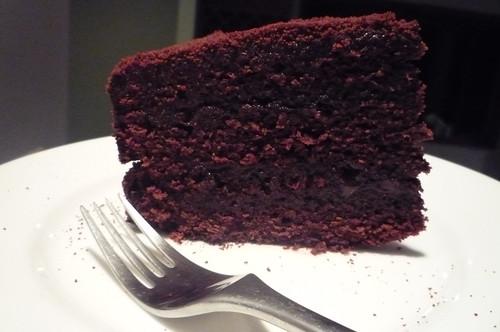 Chocolate cake ganache