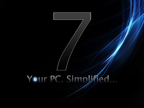 Dark smoked PC Simplified Windows 7 background