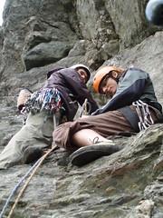 Martin and Keith (karin.helwig) Tags: climbing dunkeld cavecrag