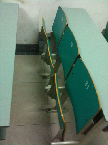 Classroom seating at Zhejiang University in Hangzhou, China