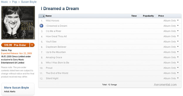 I Dreamed a Dream album iTunes