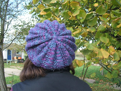 Purple lace hat