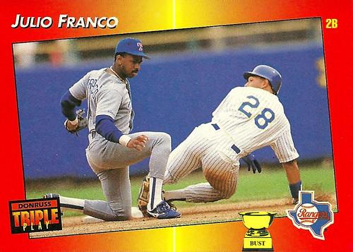 Baseball Card Bust Julio Franco 1992 Donruss Triple Play