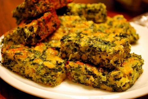 Cheesy Spinach Squares Recipe — Dishmaps