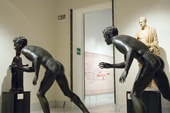 origins of Italian exit sign (Paul and Jill) Tags: sculpture naples exit uscita museoarcheologiconazionale