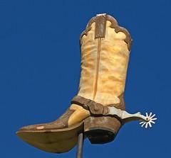 KICK IT! (FotoEdge) Tags: ranch west leather boot cowboy cattle boots kick farm stjoseph kansascity worn western heels kc kickit fotoedge stjoeboot