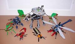 Bug Gathering (Doctor Mobius) Tags: bug insect lego dragonfly pirates beetle scorpion ninjas firefly mecha mech moc botfly battlebug kadydid battlebugs