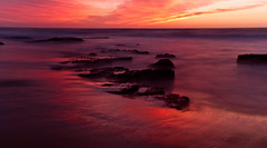 Garie Red (alexkess) Tags: november sun seascape beach water sunrise nikon sydney australia nsw nd 7th 2009 flickrmeetup garie royalnationalpark neutraldensity sutherlandshire nd10 d700
