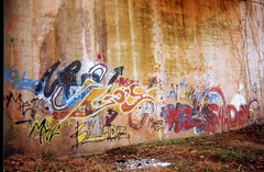 K2 graffiti (loganbertram) Tags: 35mm photography graffiti nc colorful fuji grafitti durham grafiti ae1 north northcarolina 200iso cannon carolina fujifilm logan fuji200 unc bertram hillsborough ae1p cannonae1 uncchapelhill loganbertram loganbertramphotography