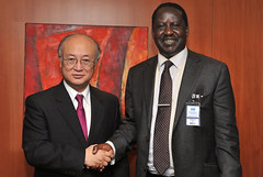 01410406 (IAEA Imagebank) Tags: energy general agency director atomic minister dg iaea amano international political personalities prime conference kenya call raila odinga visit courtesy
