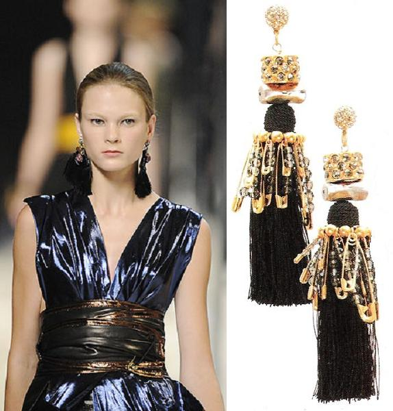 Marc Jacobs SS2009 tassel earrings