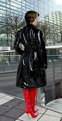From my friend PS (mallorcarain) Tags: fetish nice boots vinyl streetshots raincoat pvc bottes fakes stiefel raincape regenmantel cir lackmantel impermables