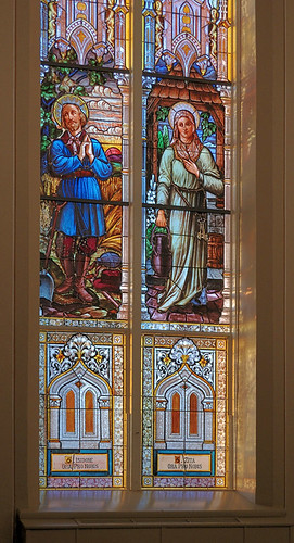 Saint Dominic Roman Catholic Church, in Breese, Illinois, USA - stained glass window