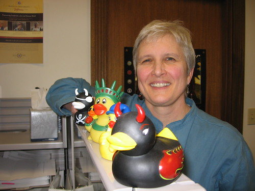 Tammy Shadair with Ducks