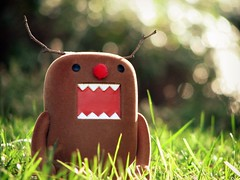 Domo the Red Nose.. (willycoolpics.) Tags: red brown monster toy nose dof bokeh domo domokun picnik flocked whatisdomo