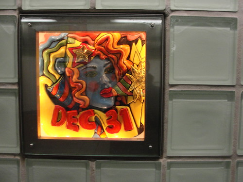 artwork at Times Square subway