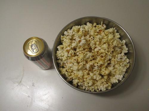 Popcorn, Diet Coke