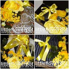 hantaran bunga artificial kuning 1