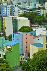 Colourful Male city (grainesdy) Tags: city houses color colour buildings cityscape rooftops indianocean colourful maldives mal colourfulbuildings colorfulbuildings capitalofmaldives condensedcity malcity