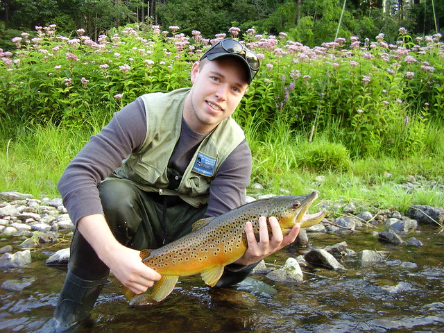 Kyle with big brown trout
