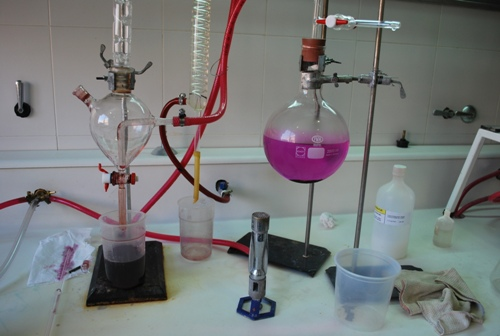 Laboratório da Vinícola Andeluna