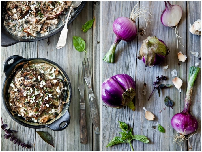 Eggplant & Onion Gratin