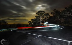 CORNERED (Vaughan Laws Photography | www.lawsphotography.com) Tags: longexposure longshutterexposure night lighttrails curved lines le canon vaughanlaws vaughanlawsphotography melbourne arthursseat trails tree nightshot nightphotography landscape sky road longexposurecolour longexposurenight