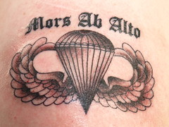 finished tattoo (Notned Photo) Tags: tattoo army hubby airborne deathfromabove 101st jumpwings