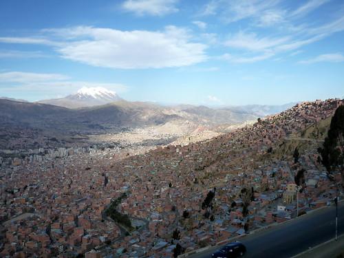 Illimani y la ciudad de La Paz