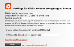 Pixelpipe - settings for flickr account Wongtanglao (for tech support)