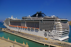 MSC Splendida (albireo2006) Tags: cruise blue wallpaper port wow harbor mediterranean ship waterfront harbour background malta splendida cruiseship laguna msc liner valletta cruiseliner moored grandharbour v18 msccruises msccrociere mscsplendida valletta2018