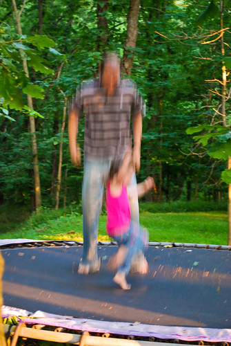 Izzy and Daddy Jumping