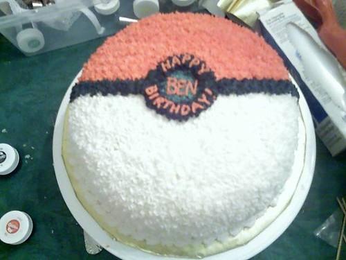 Everything Pokemon Pokeball Birthday Cake Photo