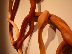 untitled (snake wreath) Charles Hobbs 2008 detail (charleswesleyhobbs) Tags: wood sculpture art charles charlie hobbs ollman fleisher