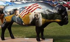 "Part of the ""Where the Painted Buffalo Roam"" exhibit, West Yellowstone, Montana (IMG_1682a) (Alaskan Dude) Tags: travel art buffalo montana wildlife westyellowstone paintedbuffalo wherethepaintedbuffaloroam"