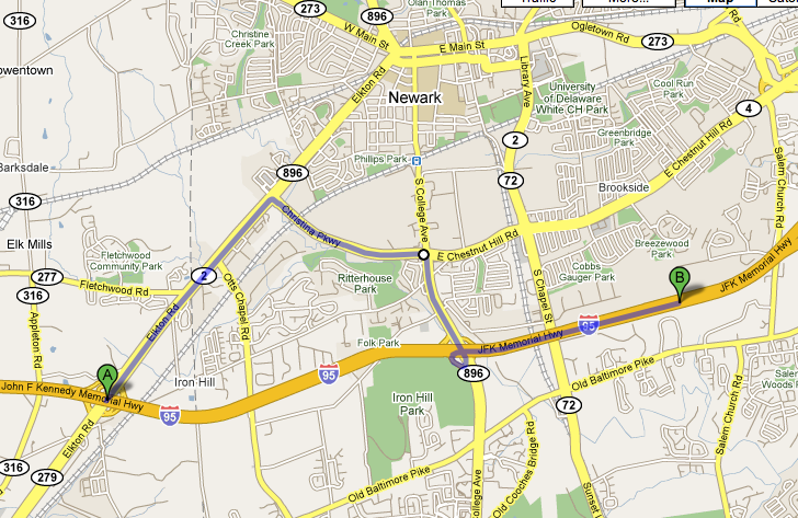 How to avoid the Delaware Maryland state line toll on I-95
