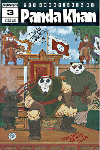 """The Chronicles of Panda Khan"" #3  Abacus Press..signed by Dave Garcia & Monica Sharp (( 1988 ))"