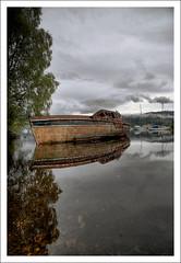 Shipwreck (chiquito*) Tags: lake reflection clouds scotland boat nikon d70s highland shipwreck hdr lochness