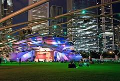 Pritzker Music Pavilion (Sky Noir) Tags: park chicago millennium pritzkermusicpavilion skynoir bybilldickinsonskynoircom