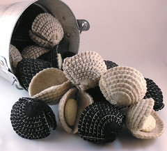 Bucket of Clams (GoBuggyGo) Tags: ocean seashells clams fakefood chells fauxfood feltfood bucketofclams